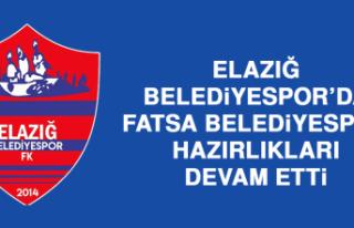 Elazığ Belediyespor'da Fatsa Belediyespor Hazırlıkları...