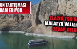 ETSO'dan Malatya Valisi Baruş'a Cevap Geldi