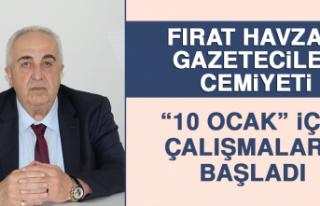 """Fırat Havzası Gazeteciler Cemiyeti """"10 Ocak""""..."""