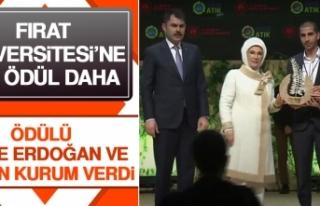 Fırat Üniversitesi'ne Ödülü Emine Erdoğan...