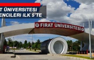 Fırat Üniversitesi Öğrencileri İlk 5'te