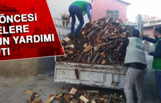 İHH Kış Öncesi Ailelere Odun Yardımı Yaptı