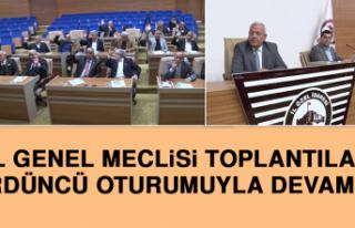 İl Genel Meclisi Toplantıları 4'üncü Oturumuyla...