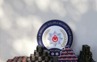 Malatya'da 178 kilogram gümrük kaçağı nargile...