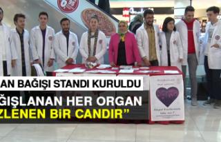 Organ Bağışı Standı Kuruldu
