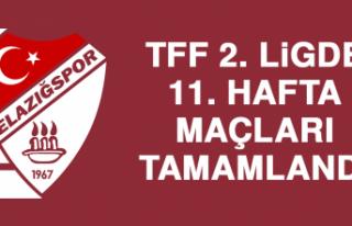 TFF 2. Ligde 11. Hafta Maçları Tamamlandı