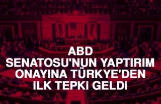 ABD Senatosu'nun Yaptırım Onayına Türkiye'den...