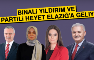 Binali Yıldırım ve AK Partili Heyet Elazığ'a...