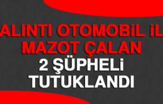 Çalıntı Otomobil İle Mazot Çalan 2 Şüpheli...