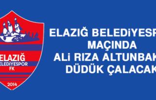 Elazığ Belediyespor Maçında Ali Rıza Altunbakır...