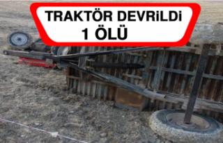 Elazığ'da Traktör Devrildi: 1 Ölü