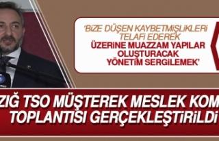 Elazığ TSO Müşterek Meslek Komitesi Toplantısı...