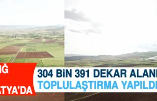 Elazığ ve Malatya'da 304 Bin 391 Dekar Alanda...