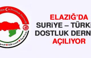 Elazığ'da Suriye – Türkiye Dostluk Derneği...
