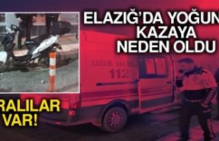 Elazığ'da Yoğun Sis Kazaya Neden Oldu… Yaralılar...