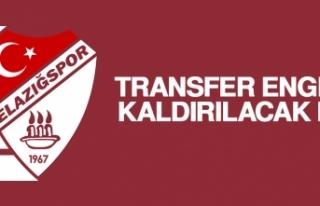 Elazığspor'da Transfer Engeli Kaldırılacak...