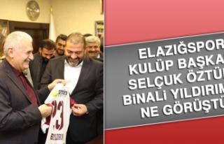 Elazığspor Kulüp Başkanı Selçuk Öztürk Binali...