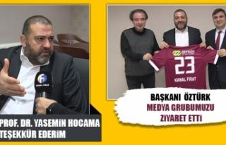 Elazığspor Kulüp Başkanı Selçuk Öztürk, Medya...