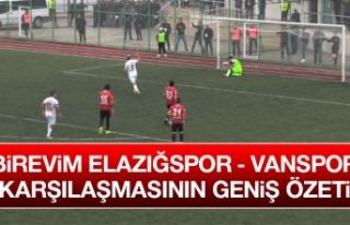 Elazığspor - Vanspor Karşılaşmasının Geniş...