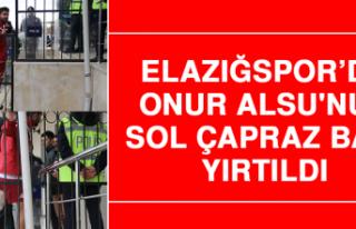 Elazığspor'da Onur Alsu'nun Sol Çapraz Bağı...