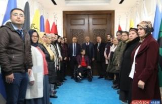 Engelli bireylerden Başkan Güder'e ziyaret