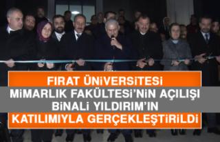 Fırat Üniversitesi Mimarlık Fakültesi'nin Açılışı...