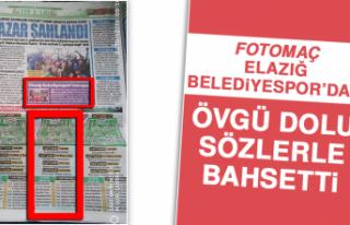 Fotomaç, Elazığ Belediyespor'dan Övgü Dolu...