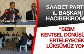 İl Başkanı Hacıbekiroğlu, Gündemi Değerlendirdi