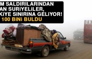 Rejim saldırılarından kaçan suriyeliler, türkiye...