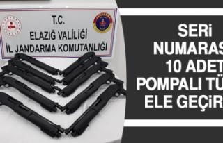 Seri Numarasız 10 Adet Pompalı Tüfek Ele Geçirildi
