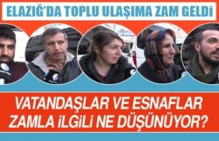 Toplu Ulaşıma Yapılan Zammı Esnaf ve Vatandaşlar...