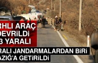 Yaralanan Jandarma Elazığ'a Getirildi