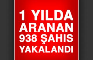 1 Yılda Aranan 938 Şahıs Yakalandı