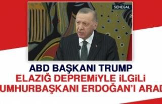 ABD Başkanı Trump Elazığ'la İlgili Cumhurbaşkanı...
