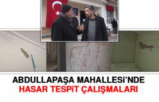 Abdullapaşa Mahallesi'nde Hasar Tespit Çalışmaları
