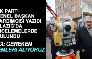 AK Parti Genel Başkan Yardımcısı Yazıcı, Elazığ'da...