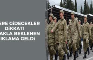 ASKERE GİDECEKLER DİKKAT!