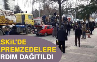 Baskil'de Depremzedelere Yardım Dağıtıldı