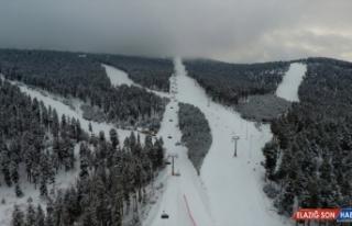Cıbıltepe Kayak Merkezi cıvıl cıvıl
