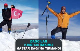 Dağcılar, 2 Bin 148 Rakımlı Mastar Dağı'na...