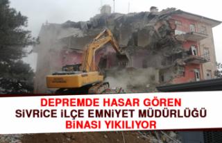 Depremde Hasar Gören Sivrice İlçe Emniyet Müdürlüğü...