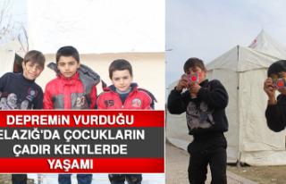 Depremin Vurduğu Elazığ'da, Çocukların Çadır...
