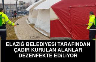 Elazığ Belediyesi Tarafından Çadır Kurulan Alanlar...