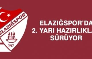 Elazığspor 2. Yarı Hazırlıklarını Sürdürüyor