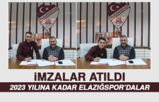 Elazığspor'da İki Futbolcunun Sözleşmesi...