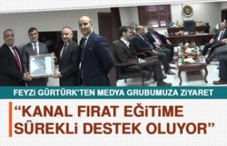 Feyzi Gürtürk: Kanal Fırat Eğitime Sürekli Destek...