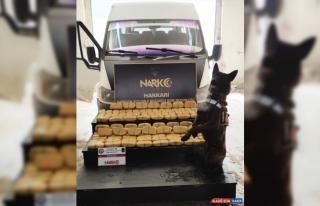 Hakkari'de 55 kilo 432 gram eroin ele geçirildi