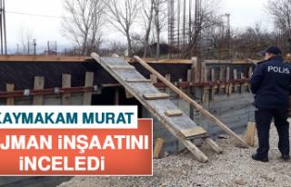 Kaymakam Murat, Lojman İnşaatını İnceledi