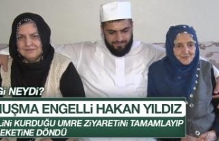 Konuşma Engelli Elazığlı Hakan, Umre Ziyaretini...