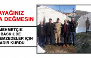 Mehmetçik, Baskil'de Depremzedeler İçin Çadır...